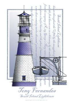 The South Island Lighthouse - signed print